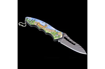 Outdoor Camping Portable Self-defense Gift Folding Knife- Carbon Gray