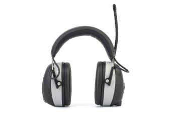 AM / FM Radio Earmuffs Hearing Protection Headphones Anti-noise Headset- Gray