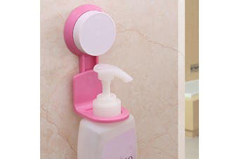 Strong Seamless Suction Cup Shower Gel Hanger- Rose Red