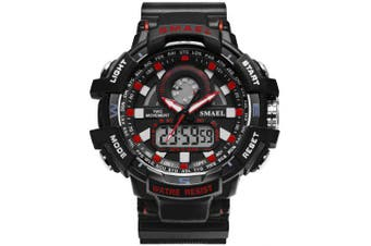 SMAEL Men WaterproofAnalog Quartz Watch- Red