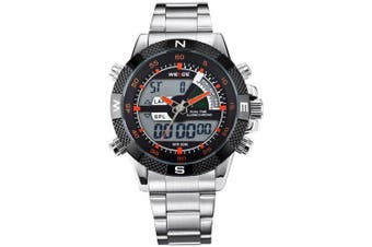 WEIDE Men Luxury Military Sport Multi-functional Quartz LED Digital Watch- Multi-E