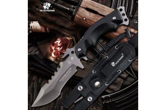 HX OUTDOORS D-123 440 Blade with Survival Tactical Fixed Knife Outdoor Camping Hunting Diving knives- Black China