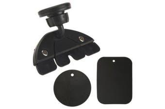 Universal Car CD Slot Holder Mount Magnet Mobile Phone Stand for Tablet Phone- Black