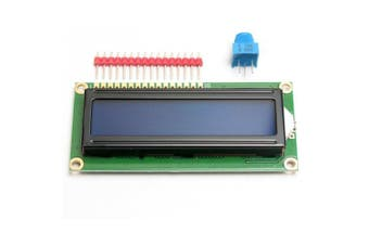 Standard 16 x 2 Character LCD Display Module + Extras for Arduino- Blue