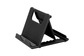 Mini Adjustable Foldable Cell Phone Tablet Stand Holder- Black