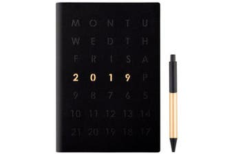 A5 Simple Business Notebook Notepad Plan This Office Stationery Notebook- Black