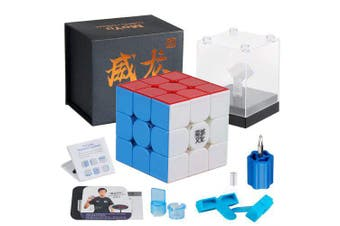 MoYu Weilong GTS3 M Speed GTS V3 3x3x3 Stickerless Magnetic Cube Puzzle YJ8261- Multi-A