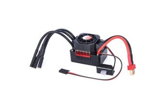 GTSKYTENRC 45A Waterproof ESC Electric Speed Controller for 1/10 1/12 RC Car 3650 3660 Brushless Motor- Red