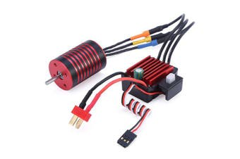 GTSKYTENRC 2838 3700KV / 4700KV Brushless Motor 35A ESC Combo for Traxxas HSP Tamiya Axial 1/16 1/12 RC Car- Red 4700KV