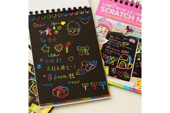 LD - B054 DIY Graffiti Child Colorful Scratch Painting Book- Deep Sky Blue
