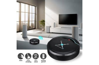 Intelligent Automatic Sweeping Robot Household USB Rechargeable Automatic Smart Robot Vacuum Cleaner- Black