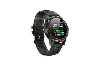 LEEHUR Men Smart Watch Wristband IP68 Waterproof Activity Tracker Fitness Tracker Smartwatch Clock- Yellow
