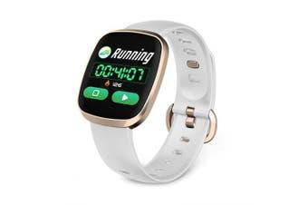 GT103 Smartwatch Pedometer Heart Rate Monitor Watch IP67 Waterproof Sport Smart Watch- White China