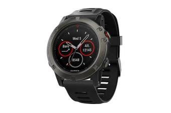 Replacement Silicone Watch Band Wrist Strap for Garmin Fenix 3 HR / Fenix 5X- Black