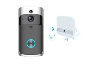 M3 Wireless WiFi Camera Video Doorbell Home Security Kit- Black EU Plug