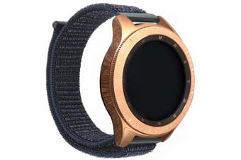 Velcro universal nylon loopback strap 22MM for Samsung Gear S3 / galaxy watch- Black