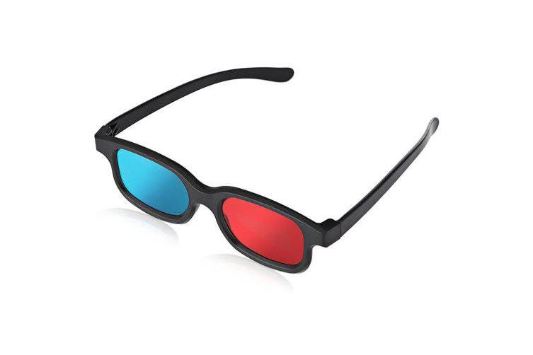 Anaglyph Dimensional 3D Vision Glasses for TV Movie Game - Red Blue- Blue and Red