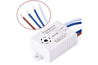 220V Automatic Sound And Light Control Sensor Switch- Milk White 2PCS