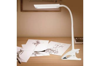ShiRuiTe MT - 302 Three-way Touch Dimming Clip Desk Lamp- White