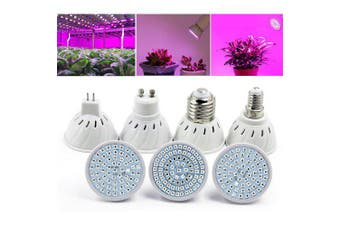 OMTO LED Plant Growth Bulb 220VFor Succulent Green Leaf Potted Plant- White GU10 80LEDs
