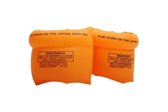 Water Foldable Inflatable Floating Arm Air Bag- Orange Pack of 2
