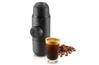 Portable Mini Pump Manual Coffee Maker Handheld Pressure Espresso Machine- Black