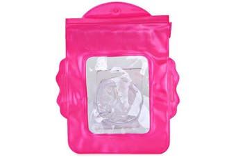 Beach Camera Case Waterproof PVC Bag Pouch for Swimming Drifting- Plum