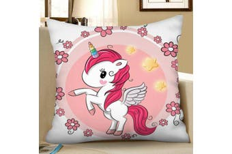 Digital Print Unicorn Square Pillowcase- Multi