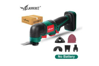 LANNERET Oscillating Tool 20V Li-ion Kit Multi-Tool Variable Speed Cordless Electric Trimmer Saw- China No Battery