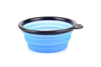 Outdoor Sports Portable TPE Folding Pet Bowl- Blue Orchid