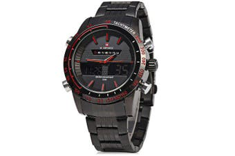 NAVIFORCE NF9024 Men Quarz Digital Watch- Red with Black