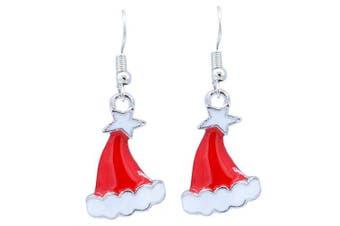 Christmas Ornaments Creative Earrings Decoration- Platinum