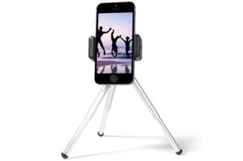 Tripod Mount Stand Cell Phone Clip Holder- Silver