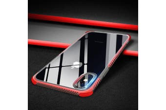 TPU Shatter-resistance Soft Case Cover for iPhone X- Red