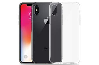 Transparent Soft TPU Case Cover for iPhone XS- Transparent