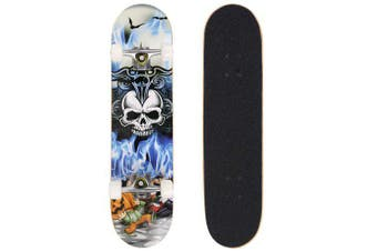 Ancheer Fashion PRO Print Wood board and PU wheels Complete Deck Skateboard- grey5 United States