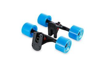 PUENTE 2pcs Set Skateboard Truck with Skate Wheel Riser ABEC - 9 Bearing- Black and Blue