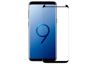 3D Curved Surface Tempered Glass Screen Protector for Samsung Galaxy S9 Plus- Black
