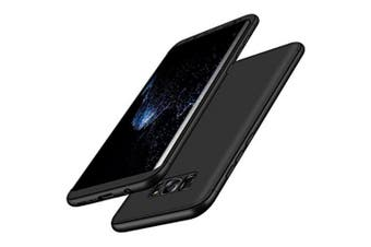 Tough Double Dip 360 Full Protection Case for Samsung Galaxy S8 Cover Coque- Black