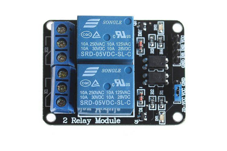 2 Channel 5V Relay Module for SCM Development / Home Appliance Control- Blue