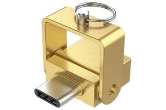 Type-C Card Reader for TF Card OTG- Gold