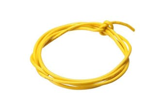 1m 26AWG Silicone Wire- Yellow