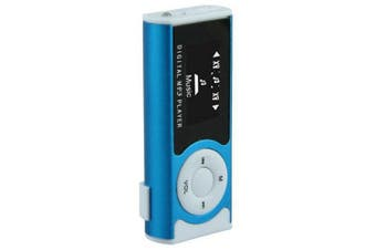 Mini Portable 0.9 inch MP3 Music Player- Sapphire Blue