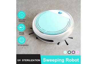 Smart Robot Vacuum Cleaner Simultaneously for Hard Floors Carpet Run Automatically Charge USB Charge- Blue