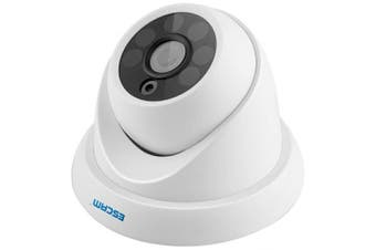ESCAM QH001 Onvif H.265 1080P P2P IR Dome IP Camera- White EU Plug