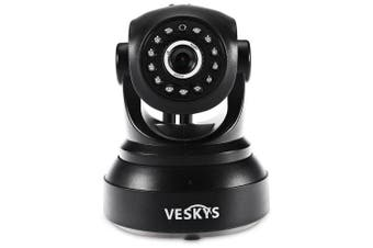 VESKYS T1 Wireless WiFi IP Surveillance Camera- Black UK Plug