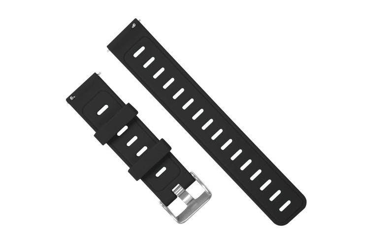 Silicone Watch Strap- Black