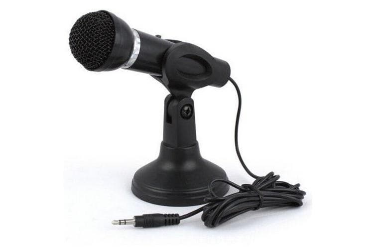 3.5MM Plug in Microphone For Computer Recording Omnidirectional- Black