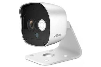 SriHome SH029 3MP 1296P HD Outdoor Network IP Camera Night Vision Two Way Audio Home Security System- White EU Plug