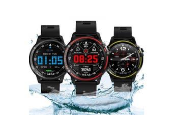 Bilikay L8 1.2 inch Nordic 52832 Metal IP68 Waterproof Full Touch Smart Watch 320mAh 7 Days Battery Life- Red